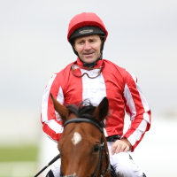 Jimmy Fortune on Nathra after the Kingdom Of Bahrain Sun Chariot Stakes at Newmarket