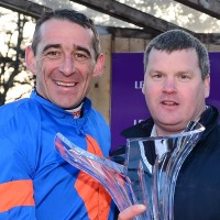 Gordon Elliott and Davy Russell (left)