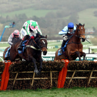 Katchit on his way to winning the 2008 Champion Hurdle