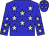 Blue, silver stars