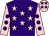Purple, pink stars, pink sleeves, purple spots, pink cap, purple stars