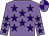 Mauve, purple stars, quartered cap