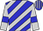 Blue, silver diagonal stripes and sleeves, blue armband, striped cap
