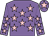 Mauve, pink stars, mauve cap, pink star
