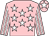 Pink, white stars, striped sleeves and star on cap
