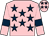 Pink, dark blue stars and armlets