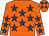 Orange, royal blue stars