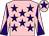 Pink, purple stars, diabolo on sleeves and star on cap