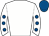 White, royal blue spots on sleeves, royal blue cap