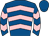 Royal blue, pink chevrons, royal blue cap