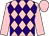 Pink and purple diamonds, pink sleeves and cap