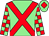 Light green, red cross belts, checked sleeves, light green cap, red diamond