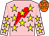 PINK, RED lightning bolt, YELLOW stars, ORANGE cap with YELLOW stars