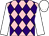 Pink and purple diamonds, white sleeves and cap