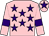 Pink, purple stars, armlets and star on cap