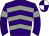 Purple, grey chevrons and armlets, purple and white quartered cap