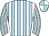 Light blue and white stripes, quartered cap