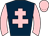 Dark blue, pink cross of lorraine, sleeves and cap
