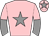 Pink, grey star, halved sleeves and star on cap
