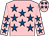 Bright pink, royal blue stars