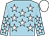 Light blue, white stars, white cap