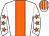 White, orange stripe, white sleeves, orange stars, white and orange striped cap