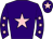 Purple, pink star, purple sleeves, pink stars, purple cap, pink star