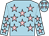 Light blue, pink stars