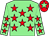 Light green, red stars, red cap, light green star