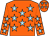 Orange, light blue stars