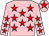 Pink, red stars, pink cap, red star